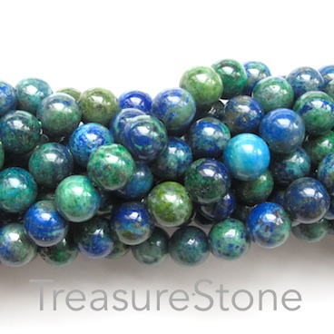 Bead, chrysocolla jasper, dyed, 10mm round. 15 inch, 37pcs