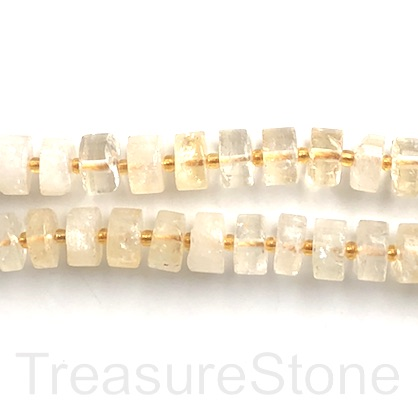 Bead, citrine, about 4x11mm disc, grade B-. 15.5-inch, 50pcs