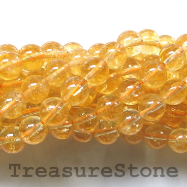 Bead, citrine, 10mm round, grade B-. 15-inch, 39pcs