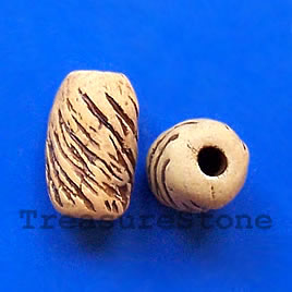 Bead, clay, 12x18mm. Pkg of 4.