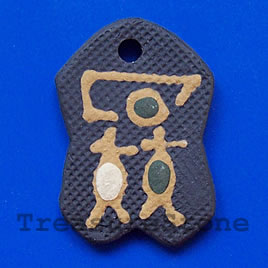 Pendant, clay, 28x41mm. Sold individually.