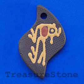 Pendant, clay, 31x48mm. Sold individually.