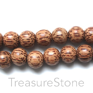 Bead, coconut wood, about 13mm. Pkg of 36pcs.