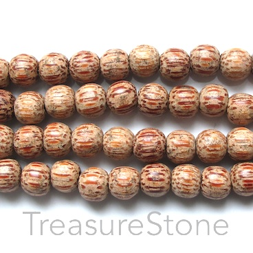 Bead, coconut wood, 8x9mm. Pkg of 102pcs.