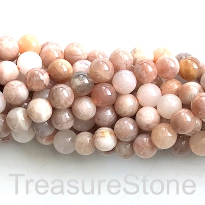 Bead, colour moonstone, 8mm round, grade B. 15.5-inch, 48pcs