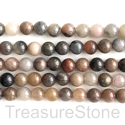 Bead, colour quartz, 8mm round. 16-inch, 48pcs.