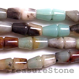 Bead, color amazonite, 8x17mm irregular tube. 16-inch strand.