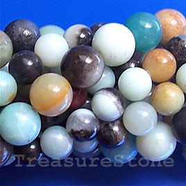 Bead, color amazonite, grade B, 8mm round. 15.5-inch, 48 pcs.