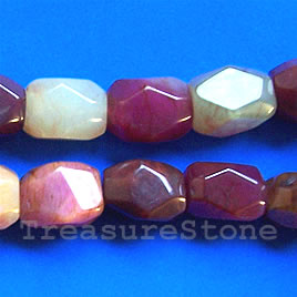 Bead, color jade, 15x20mm faceted nugget. 16-inch strand.