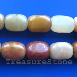 Bead, color jade, 15x20mm nugget. 16-inch strand.