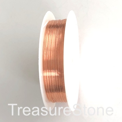 Copper wire for wire wrapping, 0.3mm diameter, rose gold, 12m
