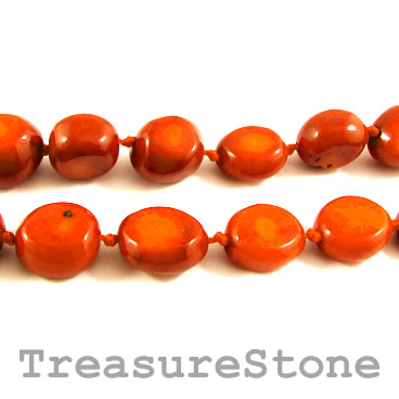 Bead, coral (dyed), orange, about 14x17mm nugget. Pkg of 21 pcs