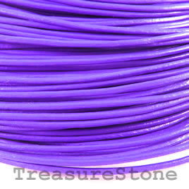Cord, leather, purple 1.5mm. Sold per 2-meter section