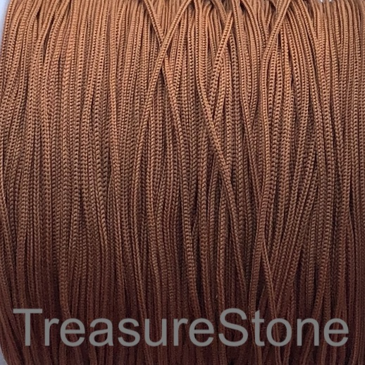 Cord, nylon, brown, 0.7mm. Sold per pkg of 24 feet