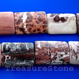 Bead,crazy horse jasper,22x30mm puffed rectangle.16-inch strand.
