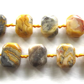 Bead, crazy lace agate, 16x20mm. 20pcs