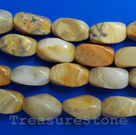 Bead, crazy lace agate, 7x15mm twist. 16-inch strand