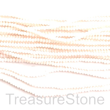 Bead, crystal, cream, 1.5x2mm faceted rondelle. 12""