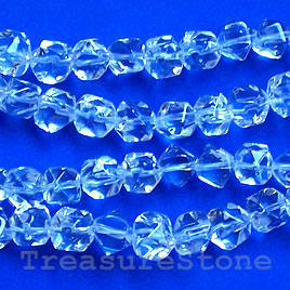 Bead, crystal quartz, 12x14mm irregular. 15.5-inch strand.