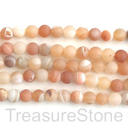 Bead, Druzy Agate, natural 2, 8mm round, grade B, 15-inch, 47pcs