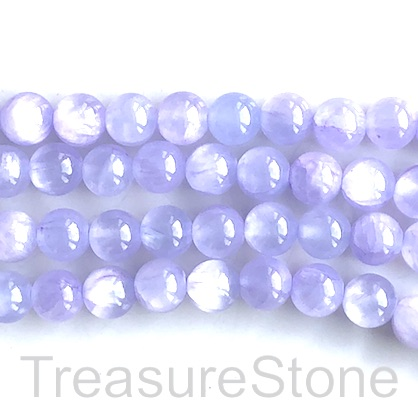 Bead, jade (dyed), light lilac, 8mm, round. 15.5-inch, 50pcs