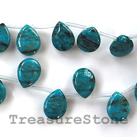 Bead, jasper(dyed), 15x20mm teardrop, 25pcs.
