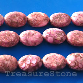 Bead, jasper (dyed), 12x17mm oval. 16 inch strand