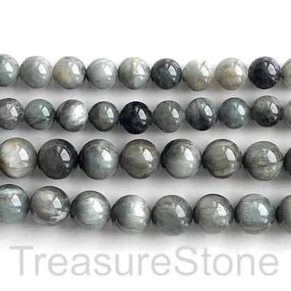 Bead, Eagle Eye jasper, Grade B, 8mm round. 15.5-inch, 46pcs