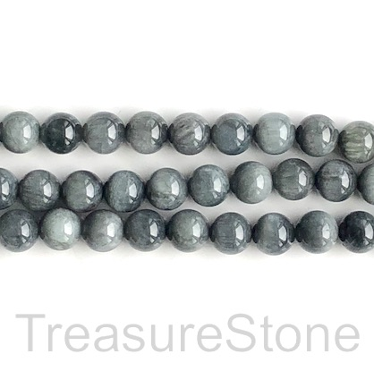 Bead, Eagle Eye jasper, 10mm round. 16-inch, 39pcs