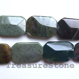 Bead, fancy jasper, 20x29mm shaped rectangle. 13pcs