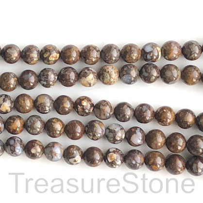 Bead, Fire lace Opal, 8mm round. 16 inch, 50pcs