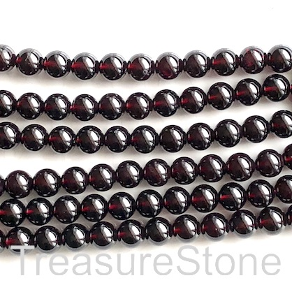 Bead, garnet, 8mm round. Grade A. Sold per 15.5-inch, 51pcs