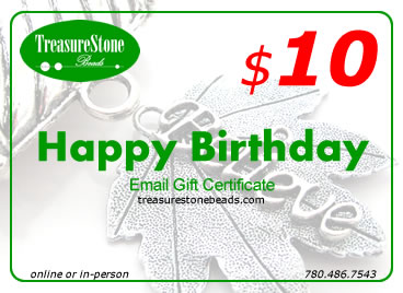 $10 gift certificate - Happy Birthday