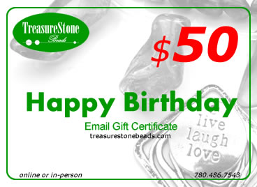 $50 gift certificate - Happy Birthday