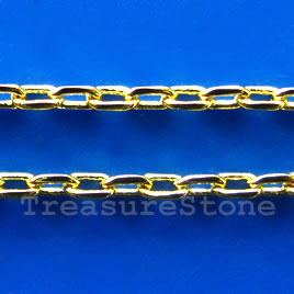Chain, brass, gold-finished,1.5mm cable. Sold per pkg of 1 meter