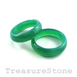 Ring/circle/pendant,green agate(dyed), 6x22mm. Sold individually