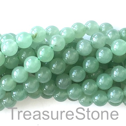 Bead, green aventurine, 8mm round. 15-inch, 46pcs.