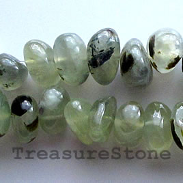 Bead, prehnite, 15mm tumbled nugget.15.5-inch strand.
