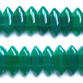 Bead, emerald agate(dyed), 8x20mm double-drilled. 16-inch strand