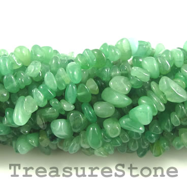 Bead, green aventurine, 8x16mm twist. 16-inch strand.