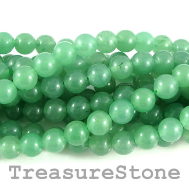 Bead, green aventurine, 8mm round. 14.5-inch, 47pcs.