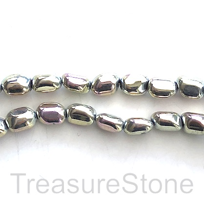 "Bead, hematite, 7x10mm nugget, spring color. 15"", 44pcs"