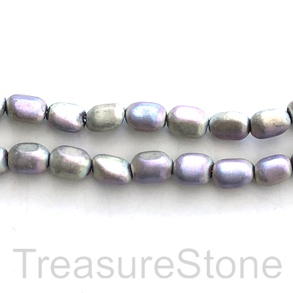 "Bead, hematite, 7x10mm nugget, spring color matte. 15"", 44pcs"