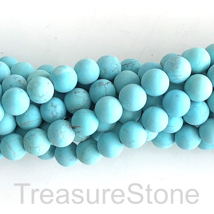 Bead, dyed howlite, matt, 8mm round. 15.5-inch, 49pcs