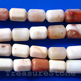 Bead, jasper, 8x11mm faceted tube. 16 inch strand.