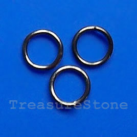 Jump Rings, Black coloured, 4mm round, Sold per pkg of 100