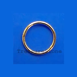 Gold-plated Jumprings, 8mm round, Sold per pkg of 100