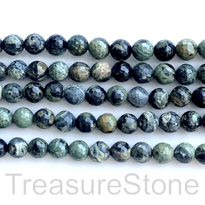 Bead, kambaba jasper, 8mm faceted round. 15 inch, 48pcs