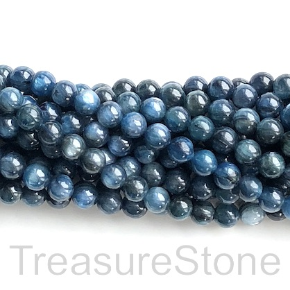 Bead, kyanite, 6mm round, grade B-. 14.5-inch, 60pcs