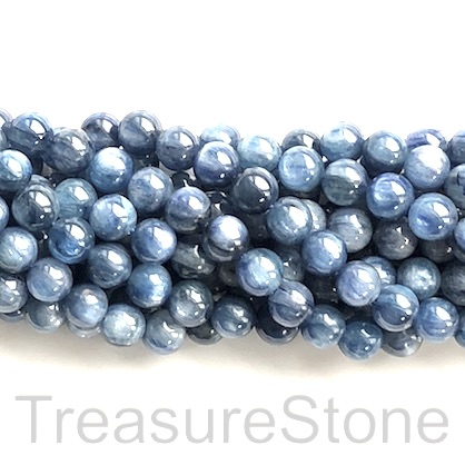 Bead, kyanite, 7.8mm round, grade B. 15.5-inch, 52pcs